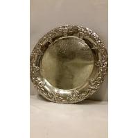 Tray - Silver Round Grape Edge