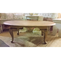 Coffee Table - Gold Oval