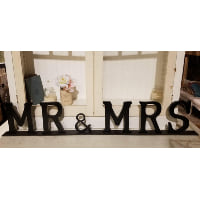 Sign - Mr & Mrs table top black
