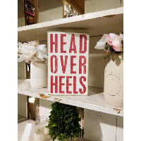 Sign - Head Over Heel Red