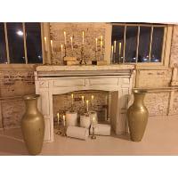 Vase - Gold Floor Vase