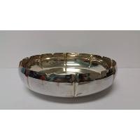Silver - Medium Bowl Shiny Scallop Edge