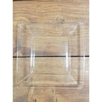 Plate - Clear Glass Square