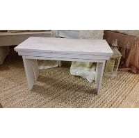 Bench - Small White Wood