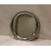 Tray - Silver Round Shiny 14