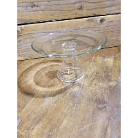 Pedestal - Clear Glass Small