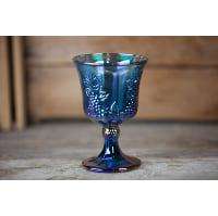 Goblet - Carnival blue purple glass