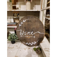 Sign - Wine Barrel Top