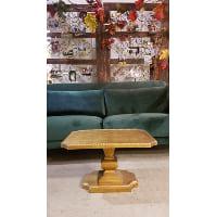 End Table - Gold Pedestal