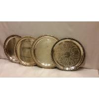 Tray - Silver Round Medium Assorted
