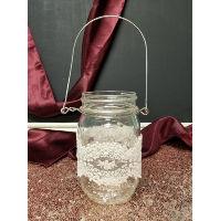 Mason Jar - Hanging Lace Pint