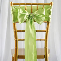 Chair Tie  - Green apple satin
