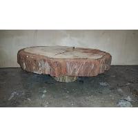 Pedestal - Log Bark Split 17.5