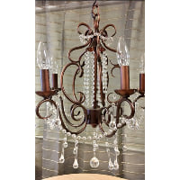 Chandelier - Bronze and Crystal