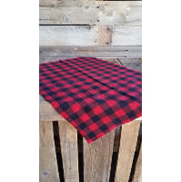 Flannel Piece - Red and Black
