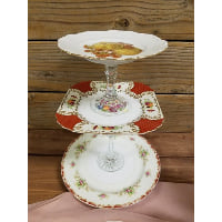 Pedestal - Three Tier Apple Floral Floral