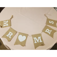 Sign - MR heart MRS Burlap Bunting