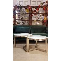 Table - Silver Leg Glass Top