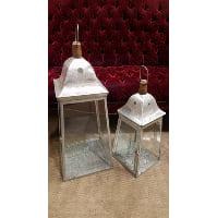 Lantern - Silver Square Medium