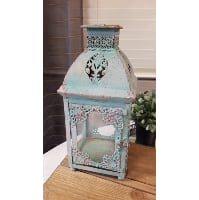 Lantern - Blue Four Sided