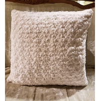Pillow - Faux fur cream throw