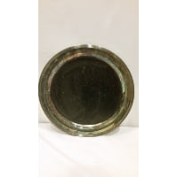 Tray - Silver Round Black Painted Center