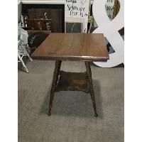 Table - Splayed Turn Leg w/Shelf
