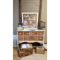 Dresser - White w/Wood Drawers