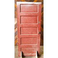 Door - Red Five Pane