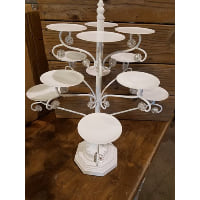 Pedestal - White and Crystal 12 Cupcake