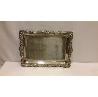 Tray - Silver Ornate Edge Rectangle