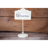 Place Card Holder - Framed Ivory Picture Table Markers