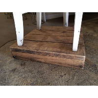 Riser - Barn Wood (White Wood Chair)