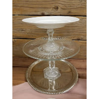 Pedestal - Three Tier White Top