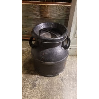 Milk Can - Medium Black