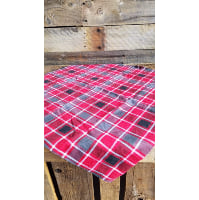 Flannel Piece - Red, Black and Grey Squares