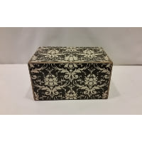 Box - Black and White Lace Design