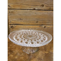 Pedestal - Cut Glass Raindrop Lined