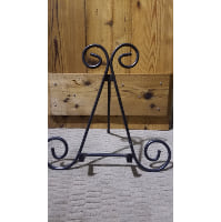 Easel - Hook Stand Black Swirl Tabletop