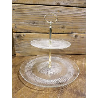 Pedestal - Two Tier Glass Plate