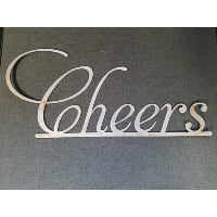 Sign - Cheers Metal Script
