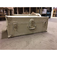 Trunk - White Metal Side and Front Handle