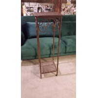 Stand - Square Tall Brown Wrought Iron