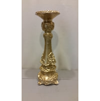 Candle Holder - Pillar Gold Ornate