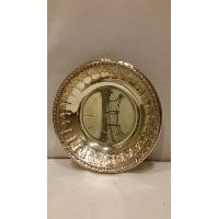 Tray - Silver Round Mini Bowl Tassel Edge
