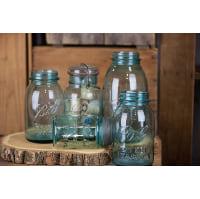 Mason Jar - Blue glass