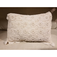 Pillow - Crochet  cream lace