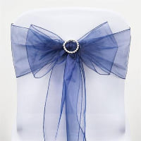 Chair Tie - Dark blue sheer