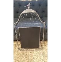 Chalkboard - Flat Birdcage w/ Bird