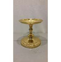 Candle Holder - Pillar Brass Shiny